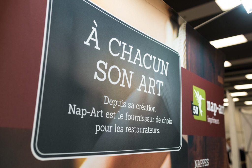 Visuel du kiosque de Nap-Art à l'ARQ